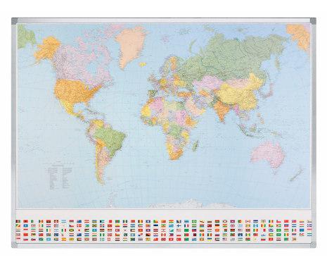 Karta Världen 98 x 142 cm