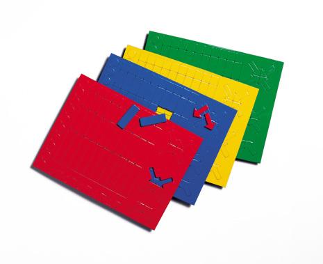 Magnetiska symboler i blandade färger