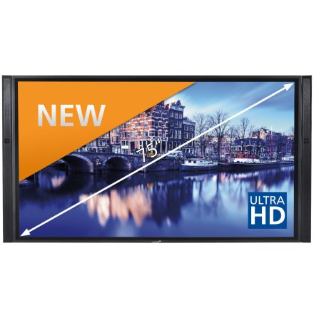 "E-Screen XTX 75""UHD , svart"