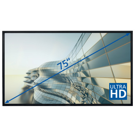 "E-Screen STX 75""UHD , svart"