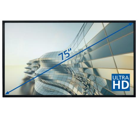 "E-Screen STX 75""UHD , svart"