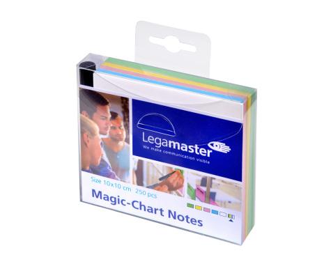 MAGIC CHART NOTES 10x10cm sort