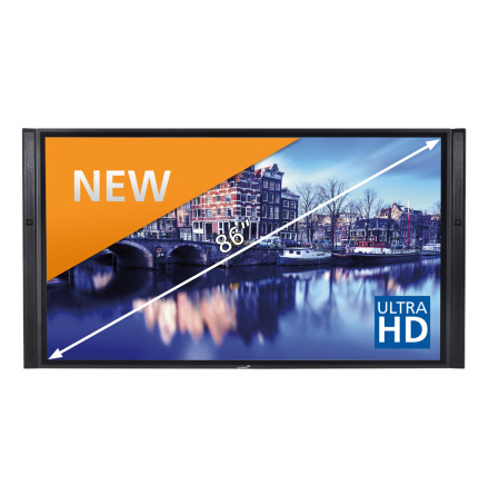 "E-Screen XTX 86"" UHD, svart"