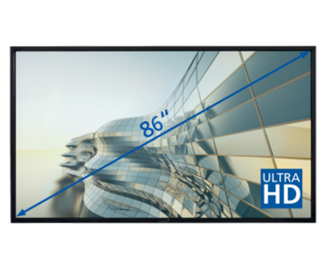 "E-Screen STX 86""UHD , svart"