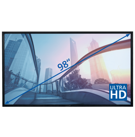 "E-Screen PTX 98"", UHD, svart"