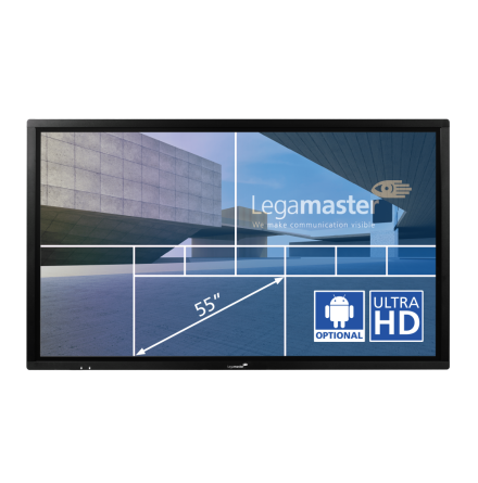 "E-Screen ETX 55"",UHD, svart"