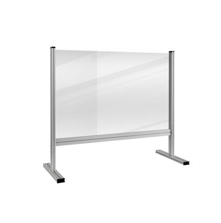 ECONOMY desk divider transparent plexiglass