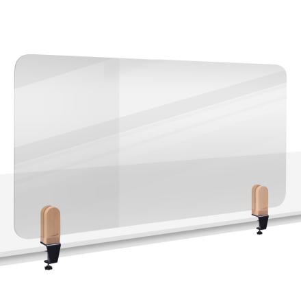 Bordsavdelare ELEMENTS transparent, skruvfäste