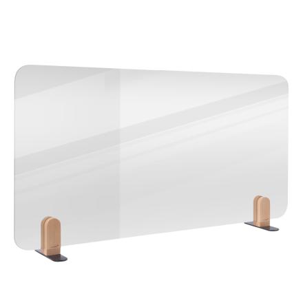 Bordsavdelare ELEMENTS transparent, hållare
